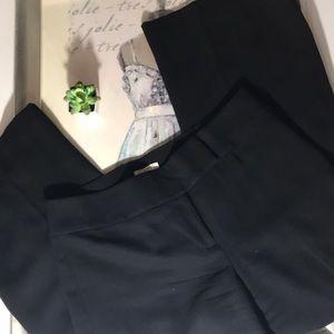LOFT Black Wool Trousers Pants - 10 Petite